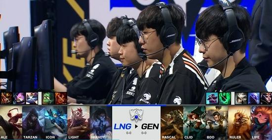 《英雄联盟》S11小组赛第一日:LNG不敌GEN落败